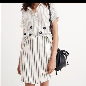 Madewell Denim Striped Skirt